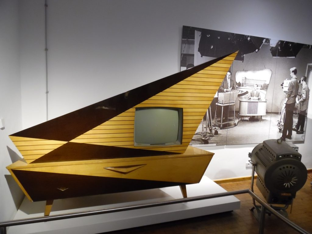 photo of a vintage mid-century television