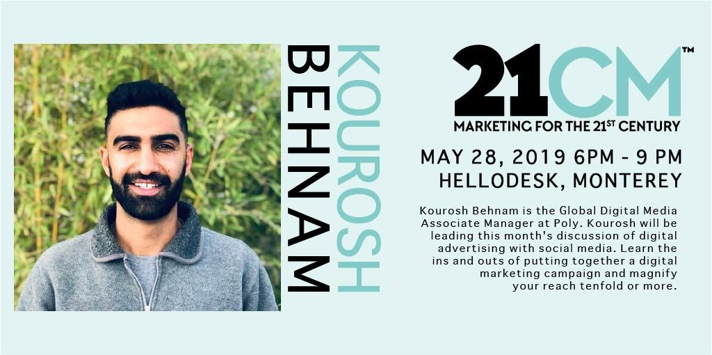 Kourosh Behnma presenting at 21st Century Marketing Meetup
