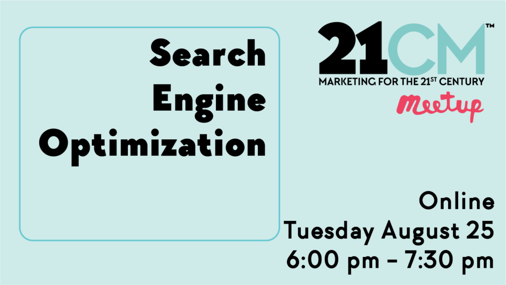 sign saying Search Engine Optimization Tuesday August 28th