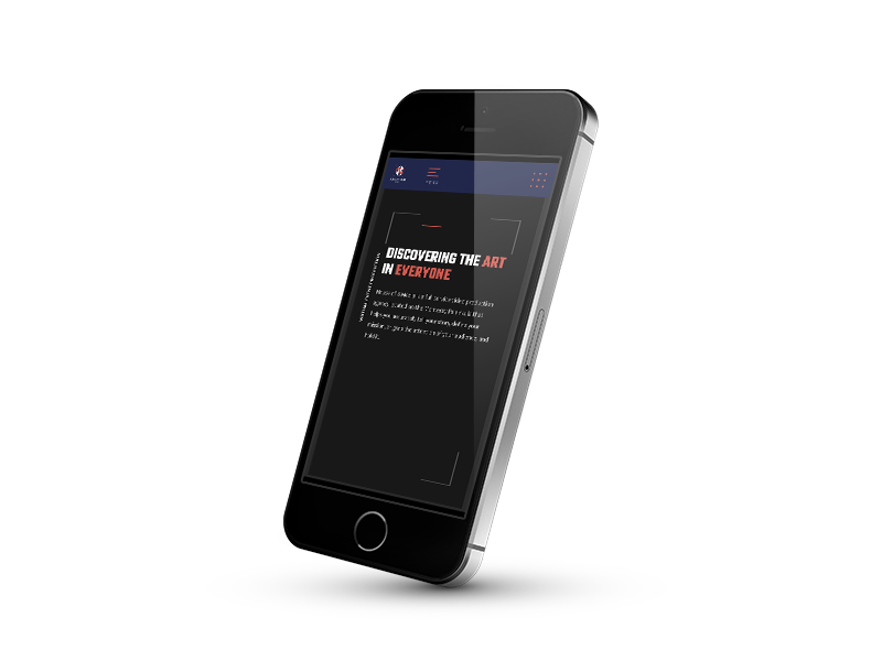 iPone rendition of client site